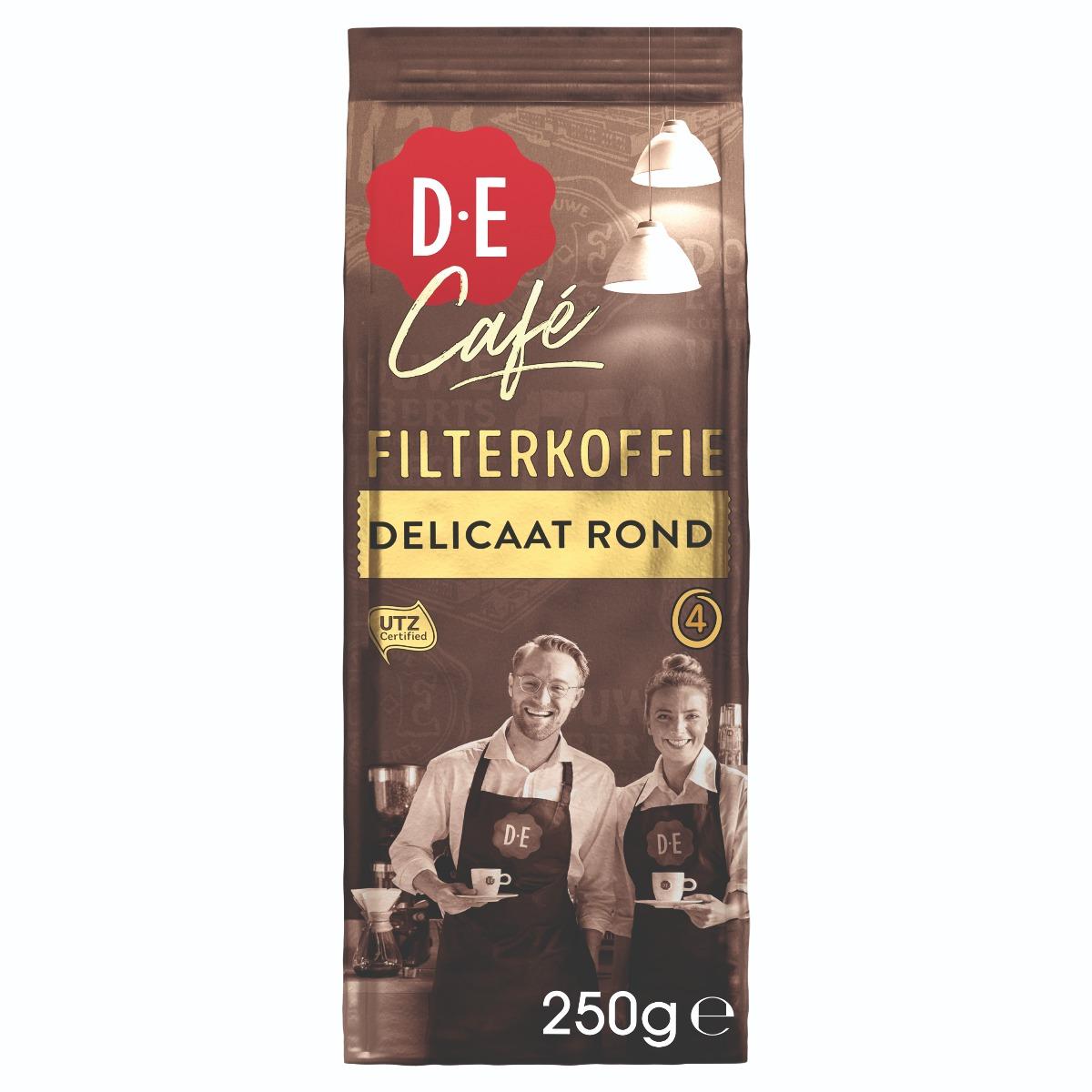 Douwe Egberts D.E Café - gemalen koffie - Delicaat Rond