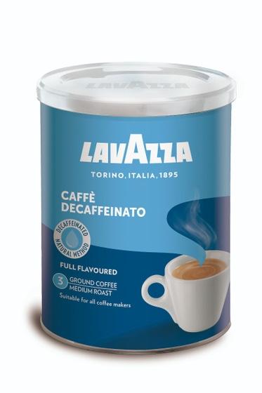 Lavazza - gemalen koffie - Caffè Decaffeinato Dek Tin