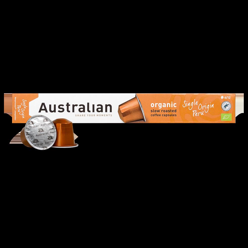 Australian - Nespresso compatible - Slow roast Single Origin Peru (Organic)
