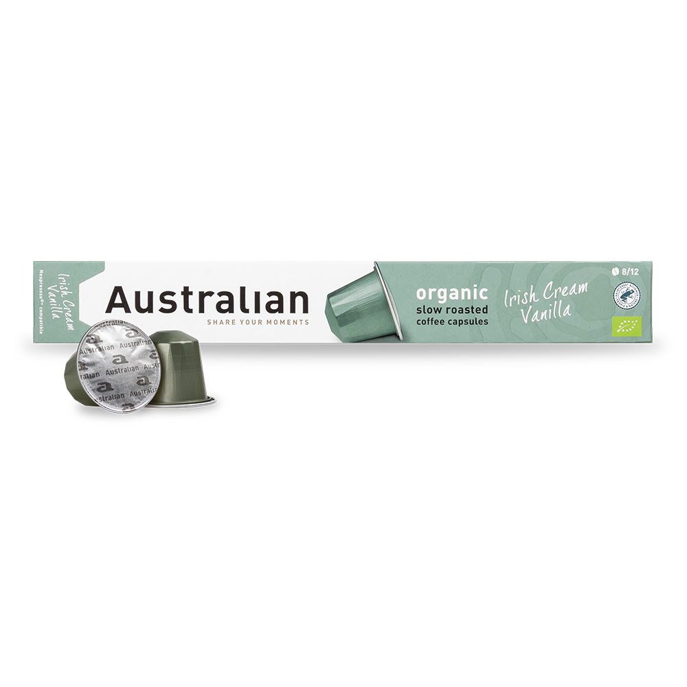Australian - Nespresso compatible - Slow roast Irish Cream Vanilla (Organic)