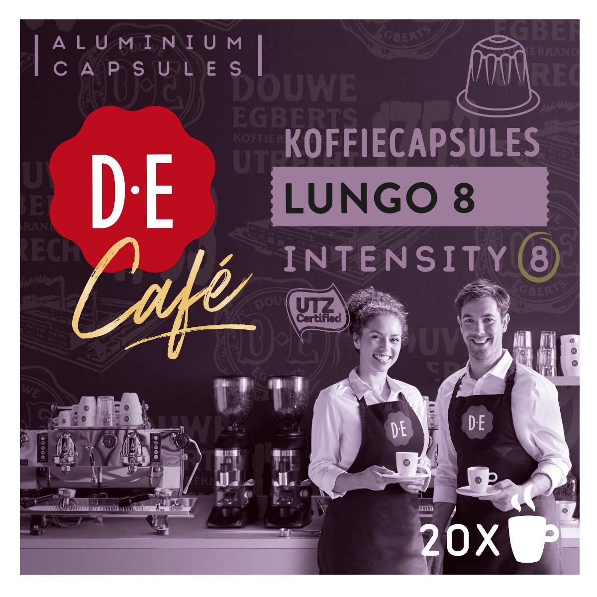 Douwe Egberts D.E Café - koffiecups nespesso compatible - Lungo 8