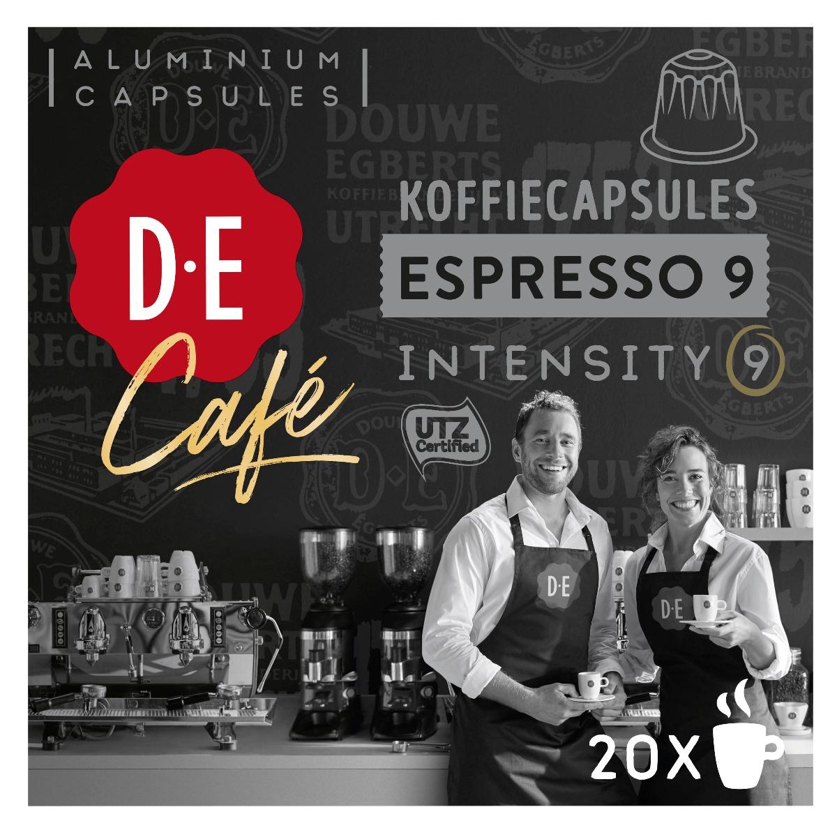 Douwe Egberts D.E Café - koffiecups nespesso compatible - Espresso 9