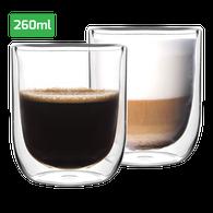 Set dubbelwandige glazen 260 ml