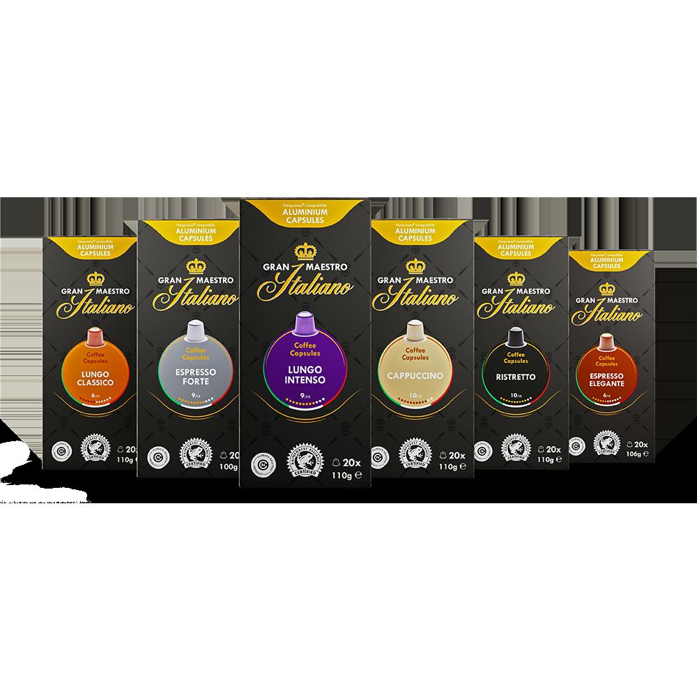 Proefpakket cups geschikt voor nespresso - orientatie