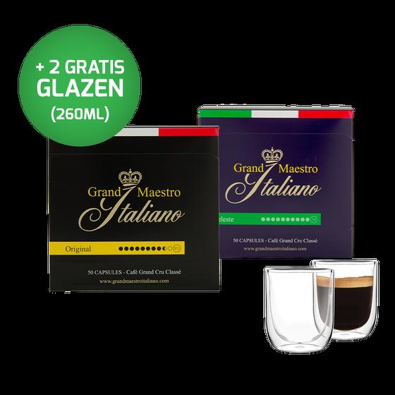 Nespresso compatible capsules - proefpakket - Grand Maestro Italiano (100 cups)