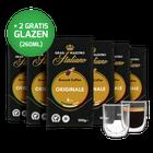 Proefpakket Grand Maestro Italiano - filterkoffie (6 x 500 gr) en 2 luxe dubbelwandige glazen
