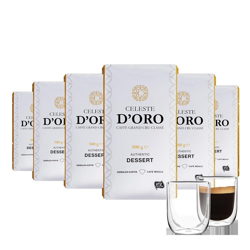 Filterkoffie (dessert) voordeelpakket - Celeste d'Oro