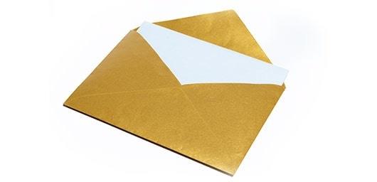 Gouden envelop