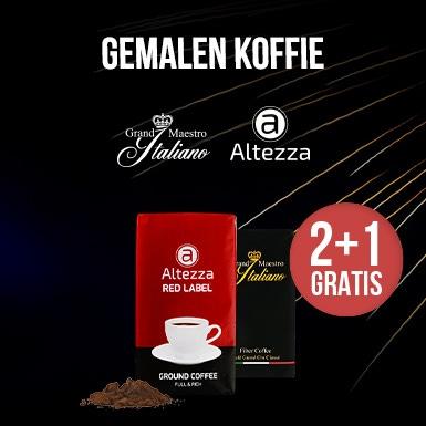2+1 GRATIS gemalen koffie
