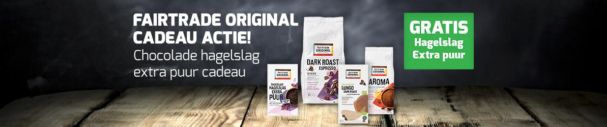 Bij aankoop van €25 aan Fairtrade Original 2 pakken hagelslag cadeau!