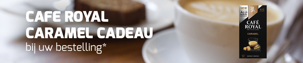 Café Royal Caramel cadeau bij uw bestelling!