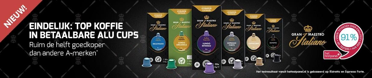 Gran Maestro Italiano - betaalbare aluminium koffiecups