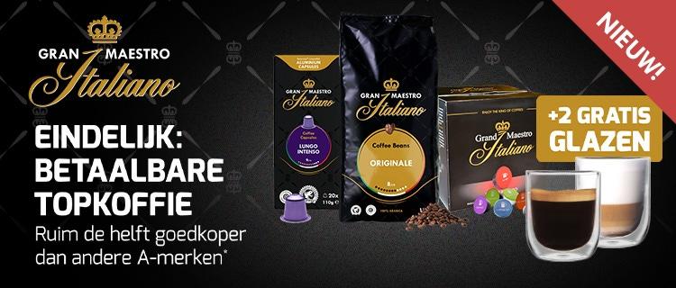 Gran Maestro Italiano proefpakketten met twee gratis glazen